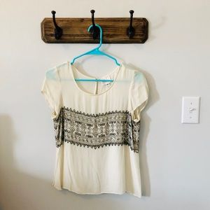 Parker Beaded short sleeve blouse